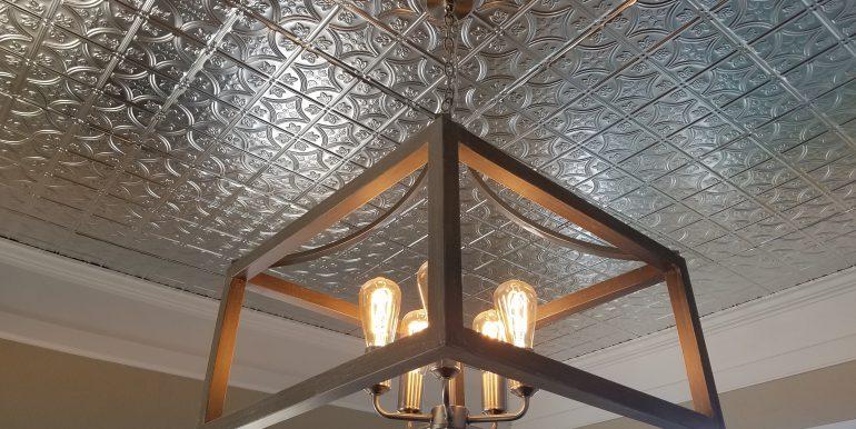 1107 W 8th St Remodel Jan 2 2019 dining room light n ceiling